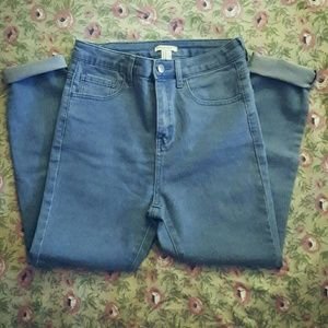Blue Denim Stone Washed Jeans